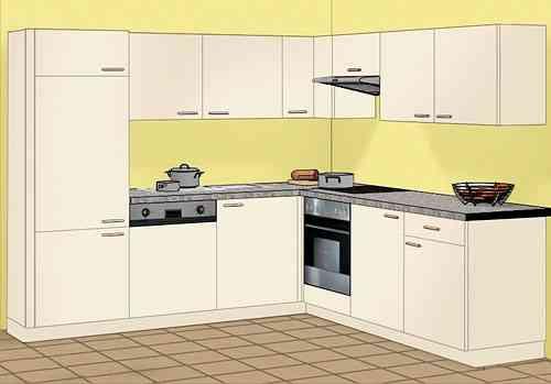 Einbauküchen aktion  Aktion: Winkelküchen 245*245 cm mit Elektrogeräten